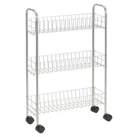 Rolling Utility Cart in Silver