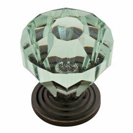 Lydia Cabinet Knob in Celadon & Bronze