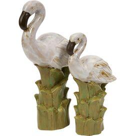 2-Piece Coastal Birds Statuette Set