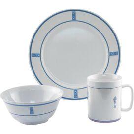 12-Piece Fish Melamine Dinnerware Set in Blue (Set of 12)