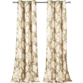 Esme Curtain Panel in Taupe (Set of 2)