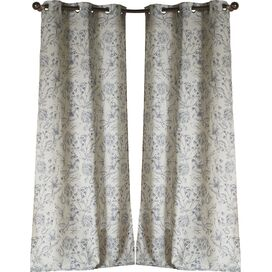 Marcie Curtain Panel in Blue (Set of 2)