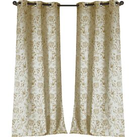 Marcie Curtain Panel in Mustard (Set of 2)