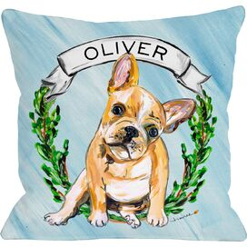 Personalized Frenchie Pillow