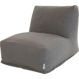 Wallace Indoor/Outdoor Beanbag Chair in Gray