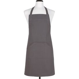 Cotton Apron in Pewter