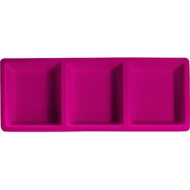 Izzy Melamine Serving Tray in Fuchsia