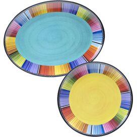 2-Piece Serape Melamine Platter Set