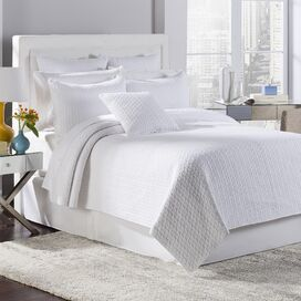 Tristan Quilt Set in White