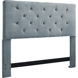 Adaline Upholstered Full/Queen Headboard in Dove Gray