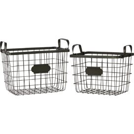 2-Piece Label Basket Set