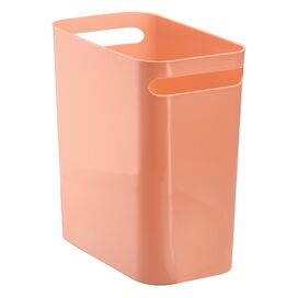Double-Handled Wastebasket in Coral