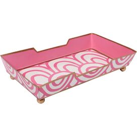 Cassie Guest Towel Tray in Pink
