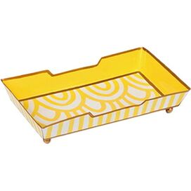 Cassie Guest Towel Tray in Yellow