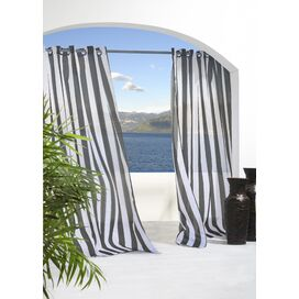 Evelyn Indoor/Outdoor Curtain Panel in Black