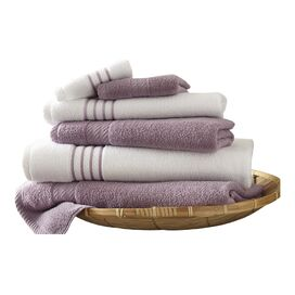 6-Piece Striped Egyptian Cotton Towel Set
