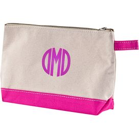 Personalized Cosmetic Bag in Hot Pink