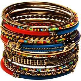 18-Piece Monaco Bangle Set in Red
