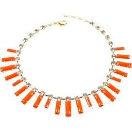 Mott Street Necklace in Coral