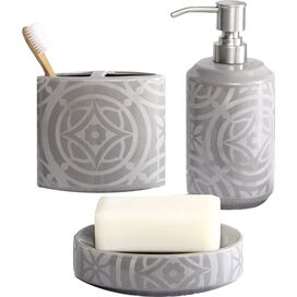 3-Piece Medallion Bath Accessory Set