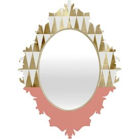 Gold Triangles Wall Mirror