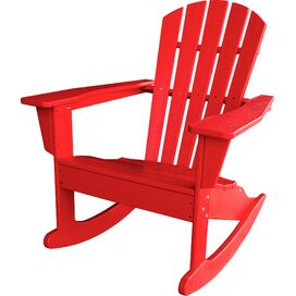 South Beach Adirondack Rocking Chair in Sunset Red