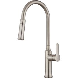 Single Lever Pull-Down Kitchen Faucet in Stainless Steel