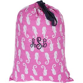 Personalized Seahorse Laundry Bag