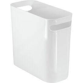 Plastic Wastebasket in White