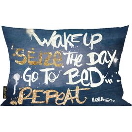 Seize it Denim Pillow, Oliver Gal