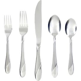 89-Piece Cambridge Stainless Steel Flatware Set