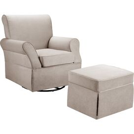 Baby Relax Kelcie Swivel Glider Chair & Ottoman Set