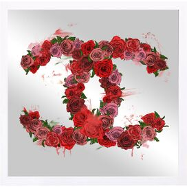 Love Roses Mirrored Wall Decor, Oliver Gal