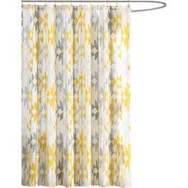 Sierra Shower Curtain in Yellow