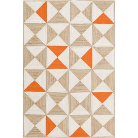 Mallory Rug in Orange & Ivory