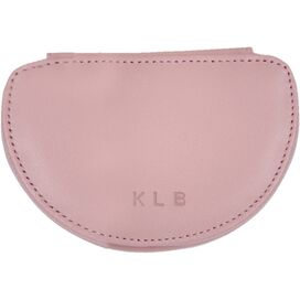 Personalized Leather Mini Jewelry Case in Carnation Pink