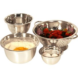 4-Piece Mixing Bowl & Colander Set