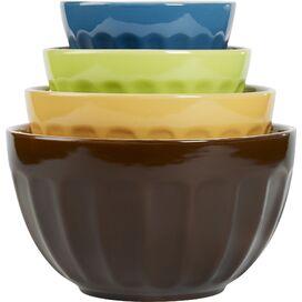 4-Piece Cafe Mixing Bowl Set