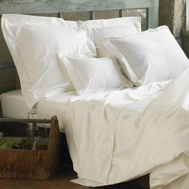 Organic Cotton Sateen Duvet Cover in White