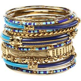 18-Piece Monaco Bangle Set in Blue
