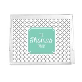 Personalized Quatrefoil Tray