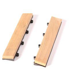 Teak Floor Tile End Piece (Set of 2)
