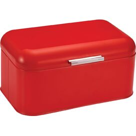 Stainless Steel Bin in Red