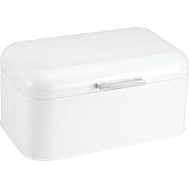 Stainless Steel Bin in White