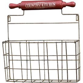 Country Kitchen Wall Basket
