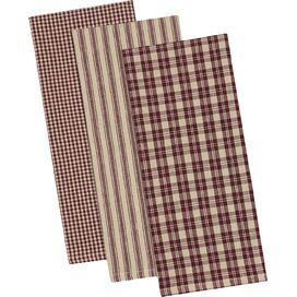 Plaid Dishtowel in Plum (Set of 3)