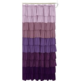 Ruffled Shower Curtain in Purple