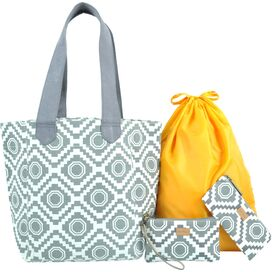 4-Piece Nomad Tote Set in Gray