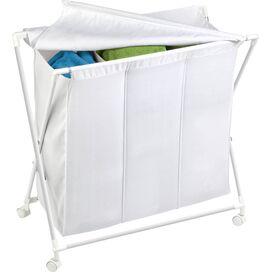 Rolling Triple Laundry Sorter