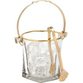 Crystal & Gold Ice Bucket